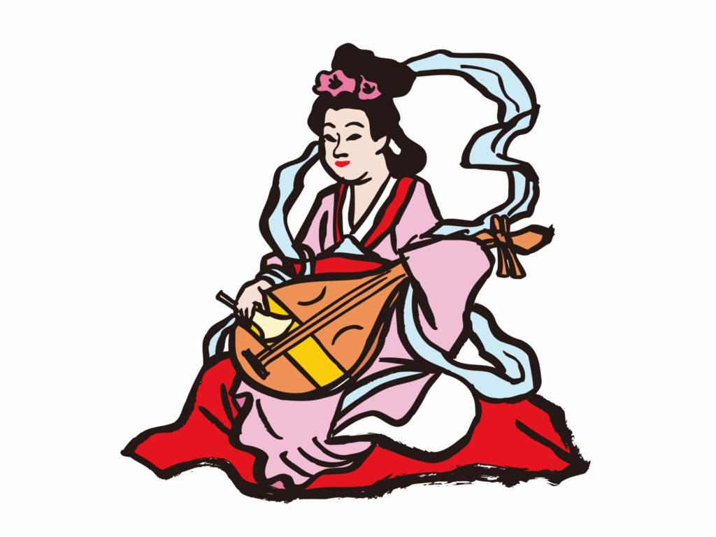 七福神 イラスト画像 弁財天