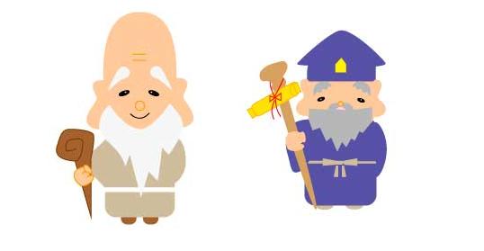 寿老人 画像イラスト