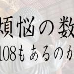 煩悩の数,煩悩 108